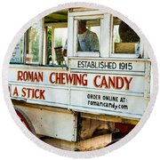 Roman Chewing Candy Nola Round Beach Towel