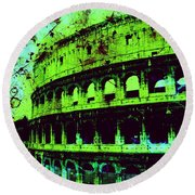 Roman Colosseum Round Beach Towel