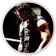 Roman Reigns Round Beach Towel