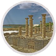 Roman Ruins Of Baelo Claudia Round Beach Towel