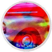 Romans 12 16 Round Beach Towel
