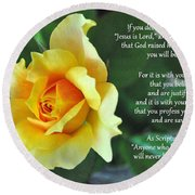 Romans Yellow Rose Round Beach Towel
