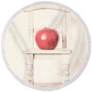 Romantic Apple Still Life Round Beach Towel by Edward Fielding