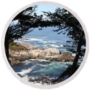 Romantic California Coast Round Beach Towel