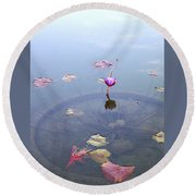 Romantic Pond Round Beach Towel