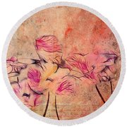 Romantiquite - 44bt22 Round Beach Towel