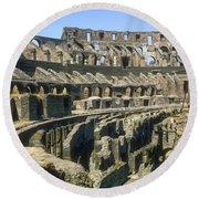 Rome Colosseum Round Beach Towel