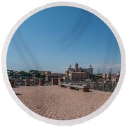 Rome From Above Round Beach Towel