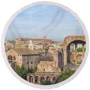 Rome Roman Forum 01 Round Beach Towel