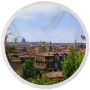 Rome Rooftop Round Beach Towel