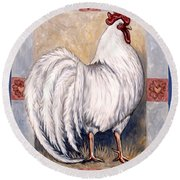 Romeo The Rooster Round Beach Towel