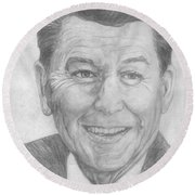 Ronald Reagan Round Beach Towel