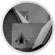 Roof Lines Round Beach Towel