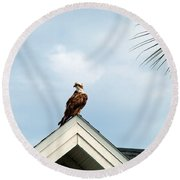 Roof Ornament Round Beach Towel