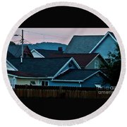 Roof Top Symphony Round Beach Towel