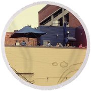 Rooftop Lunch Round Beach Towel