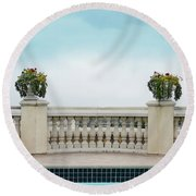 Rooftop Pool Round Beach Towel
