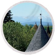 Rooftops Of Carcassonne Round Beach Towel
