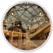 Rookery Building Main Lobby And Atrium Round Beach Towel