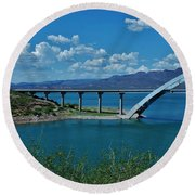 Roosevelt Lake 3 - Arizona Round Beach Towel