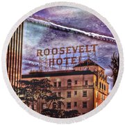 Roosevelt Retro Round Beach Towel