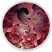 Rooster Abstract Round Beach Towel