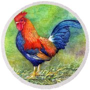 Rooster  Round Beach Towel