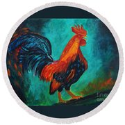 Rooster Tails Round Beach Towel