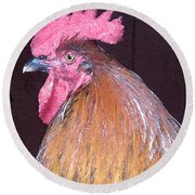 Rooster Watercolor Round Beach Towel