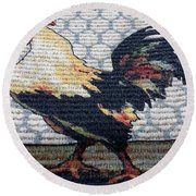 Rooster1 Round Beach Towel