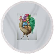 Rooster's Fruit To Go Round Beach Towel