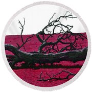 Rooted In Red Round Beach Towel