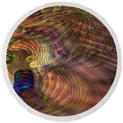 Roots Of Light - Square Version Round Beach Towel