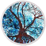 Roots To Branches II Round Beach Towel