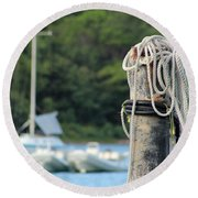 Rope And Knot Round Beach Towel