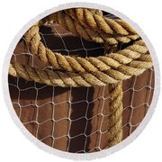 Rope And Net Round Beach Towel