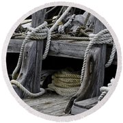 Rope Course Round Beach Towel