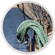 Ropes And Rigging Round Beach Towel