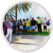 Rory Mcilroy - The Third Round Of The Omega Dubai Desert Classic Round Beach Towel