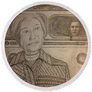 Rosa Parks Imagined Progress Round Beach Towel
