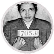 Rosa Parks Round Beach Towel by Unknown