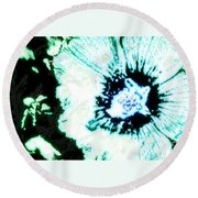 Rosa Sinensis Abstract Round Beach Towel