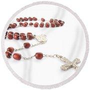 Rosary Beads Round Beach Towel by Jose Elias - Sofia Pereira