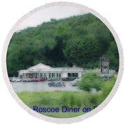 Roscoe Ny Diner Round Beach Towel