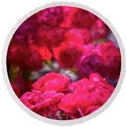 Rose 134 Round Beach Towel by Pamela Cooper