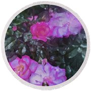 Rose 189 Round Beach Towel by Pamela Cooper