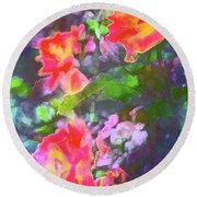 Rose 192 Round Beach Towel