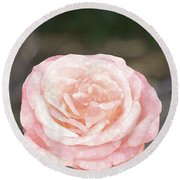 Rose 195 Round Beach Towel by Pamela Cooper