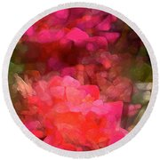 Rose 198 Round Beach Towel