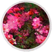 Rose 202 Round Beach Towel